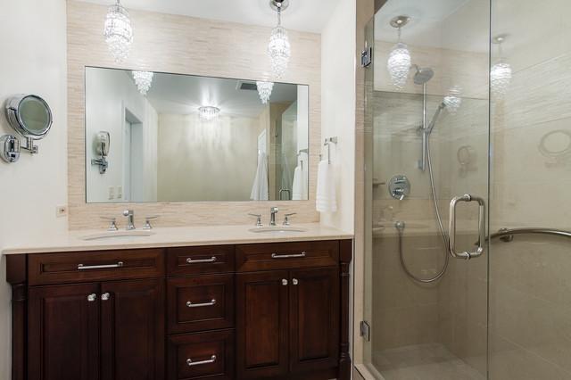 Schaumburg master bath contemporary bathroom chicago for Bathroom remodel schaumburg il