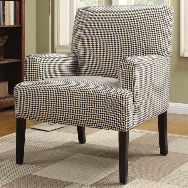 Accent Chair Black White Stripes Modern Armchairs And
