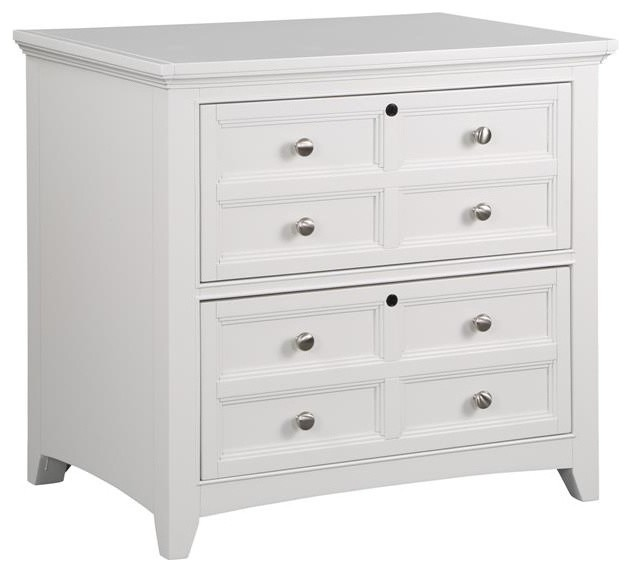 Kentwood White 2-Drawer Lateral File - Traditional ...