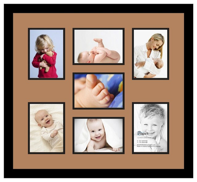 Arttoframes collage photo frame with 7 5x7 openings for Modern collage frame