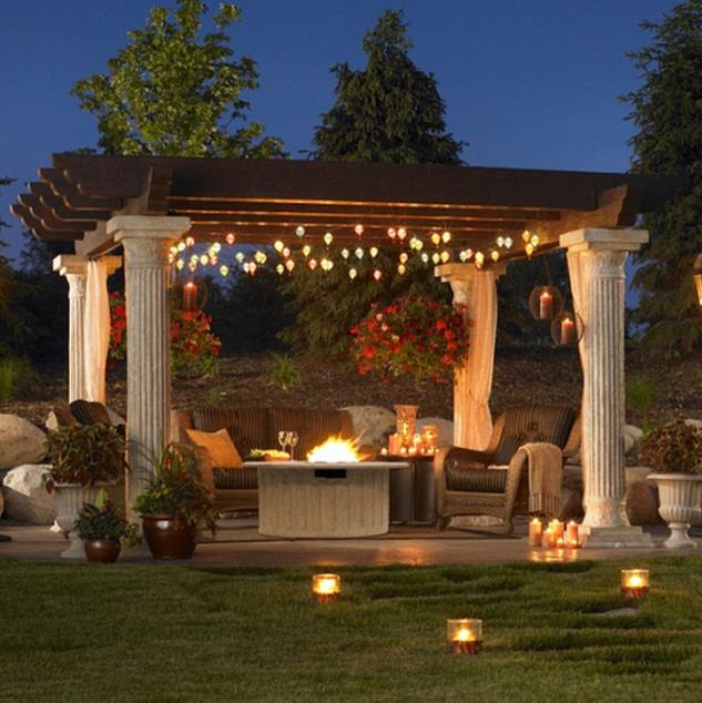 Outdoor greatroom company tuscany pergola w wood beams contemporary