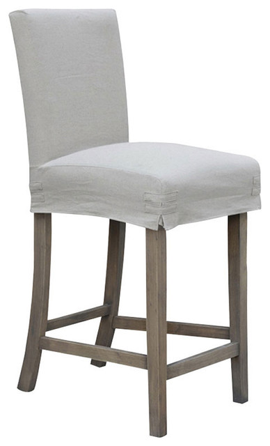 24 Quot Counterstool With Slipcover Contemporary Bar