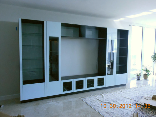 white contemporary entertainment center 1