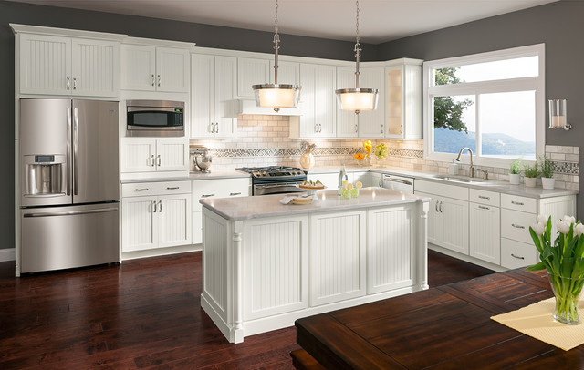 Cottage Painted Linen Cabinets Transitional Kitchen Dc Metro By Shenandoah Cabinetry