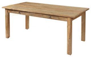 Solid Teak Wood Dining Table Contemporary Dining Tables Other Metro B