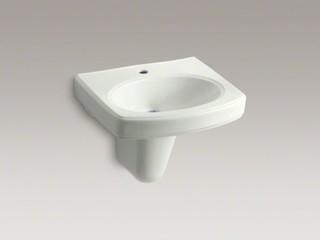 KOHLER Pinoir(R) wall-mount bathroom sink with single faucet hole ...