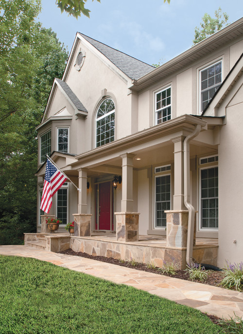 Front Porch Addition On Stucco Home