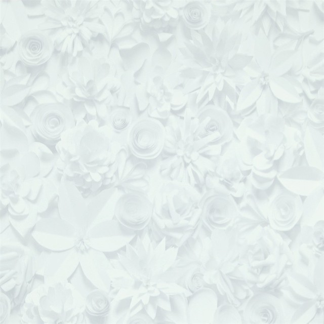cool grey 3d floral wallpaper r2908 sample transitional wallpaper