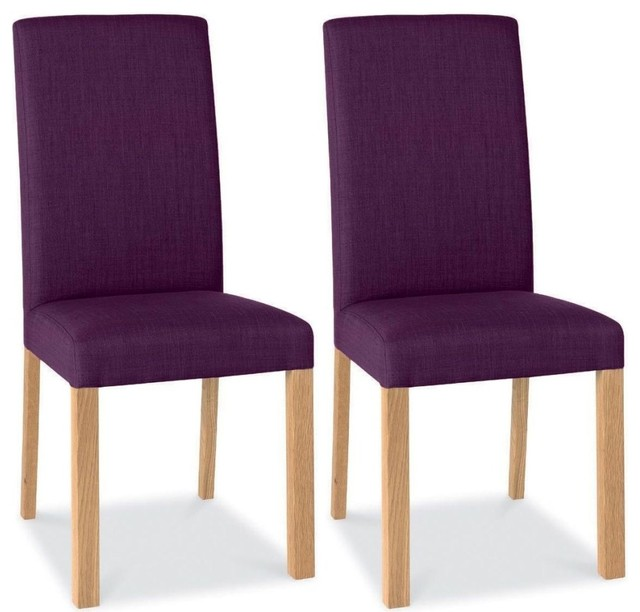 bentley designs parker oak dining chair plum square back