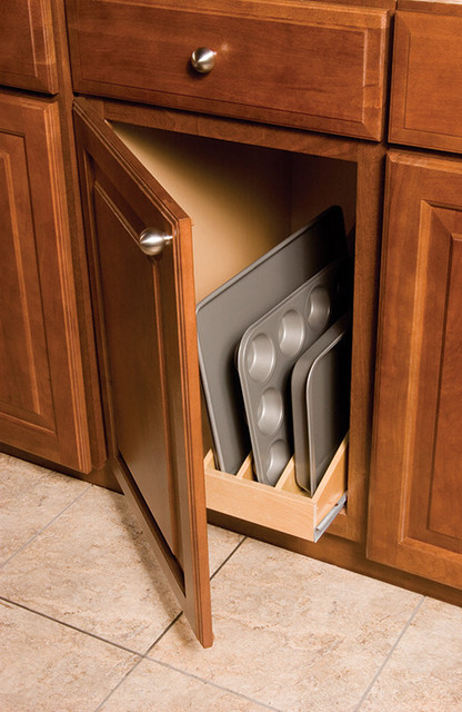 "Omega National T3194mnl1 Wood Pullout Tray Divider, 5"" - Contemporary - Pantry And Cabinet ..."