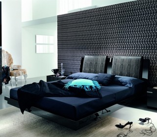 Diamond Black Platform Bed By Rossetto Usa