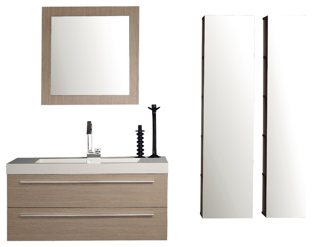 Ettore Bath Vanity Light Oak Contemporary Bathroom Vanities And Sink Con