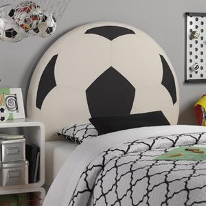 Soccerball Headboard Modern Kids Beds Los Angeles
