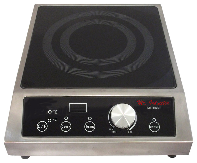 1800W Commercial Induction, Countertop - Contemporary - Hot Plates And Burners - by SPT ...