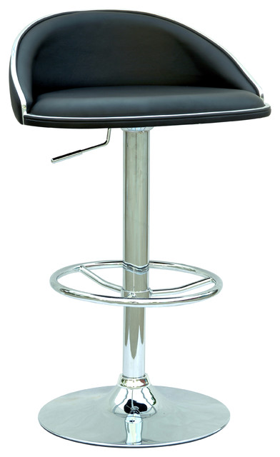 Black Pneumatic Gas Lift Adjustable Height Swivel Stool  : contemporary bar stools and counter stools from www.houzz.com size 392 x 640 jpeg 36kB