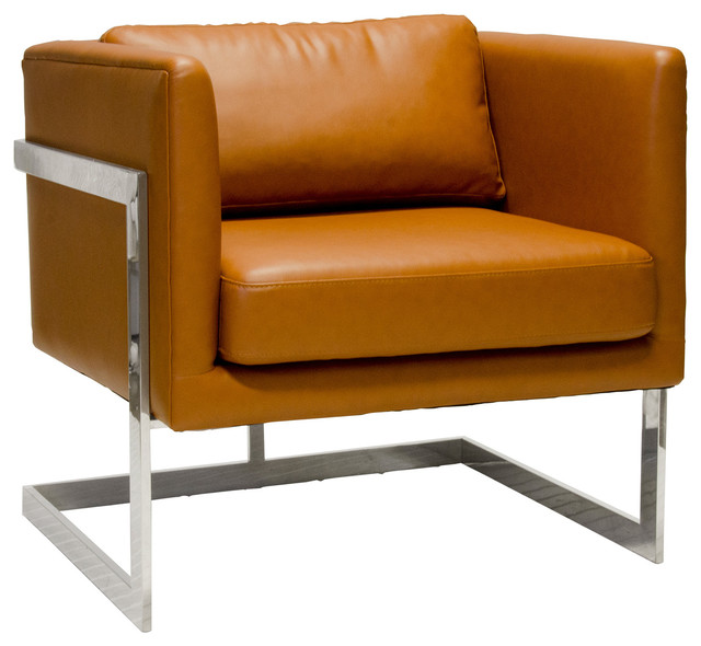 Worlds Away Macallan Leather Chair modern-side-tables-and-end-tables