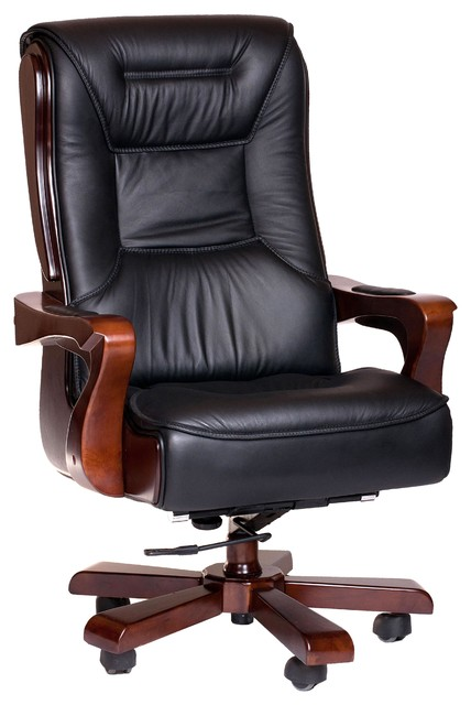 real leather executive office chair 3