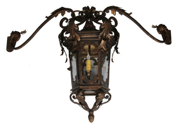 Custom Iron Wall Sconces : Custom Exterior Iron Lights - Mediterranean - Outdoor Wall Lights And Sconces - san diego - by ...