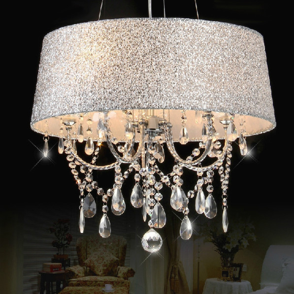 Yvette Crystal Chandelier: Colorful Shaded Clear Crystal Chandelier Small/Large