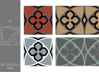 carreaux de ciment collection art nouveau contemporain carrelage sol et mur other metro. Black Bedroom Furniture Sets. Home Design Ideas