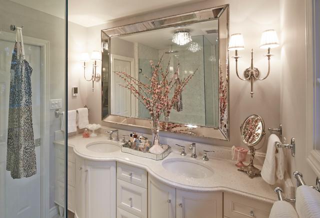 Elegant white bathroom vanity toronto by chervin for 1890 bathroom design