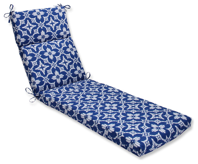 Aspidoras cobalt chaise lounge cushion blue outdoor for Blue chaise lounge cushions