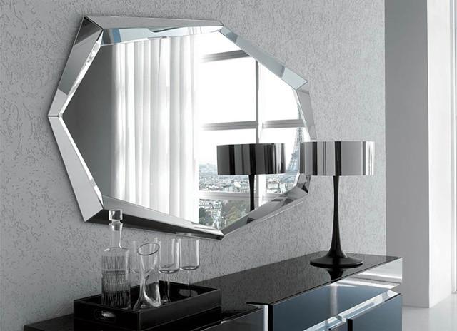 emerald wall mirror by cattelan italia modern makeup mirrors