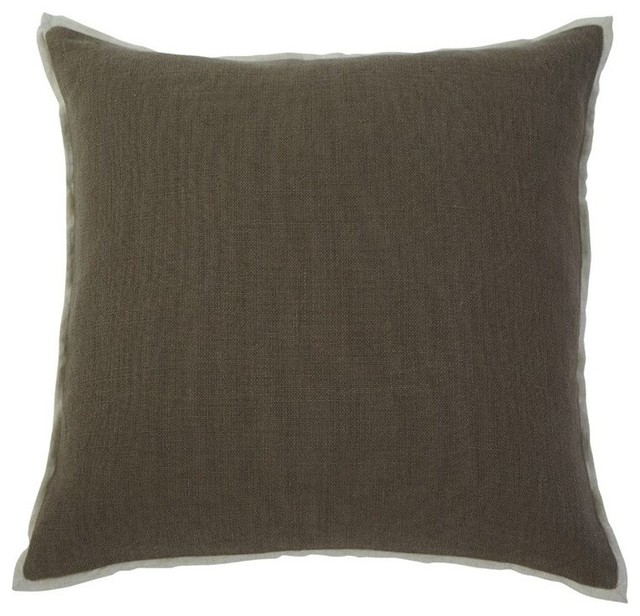 Ashley Solid Throw Pillow Covers, Gray, Set of 4 - Decorative Pillows - by Cymax
