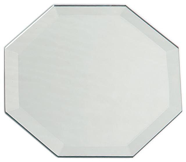 Octagon bevel mirror 12 x18 traditional bathroom for Octagon beveled mirror