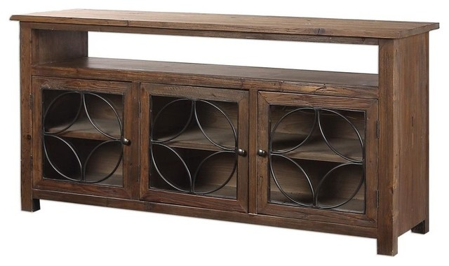 Dearborn Reclaimed Pine Credenza Transitional Buffets