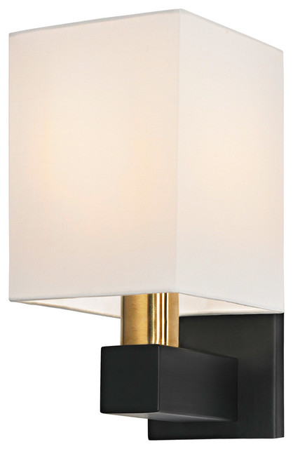Wall Sconce Rough In Height : Sonneman 6120.43 Cubo Natural Brass Black Wall Sconce - Contemporary - Wall Sconces - by Littman ...