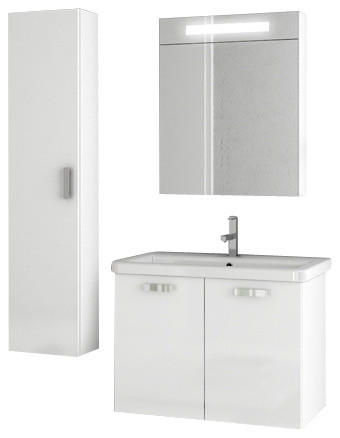 30 inch glossy white bathroom vanity set modern bathroom vanities and