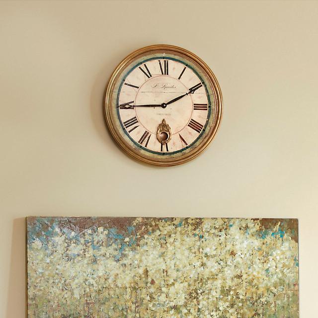 Wall Clock Ballard Design : Sheffield clock inch contemporary outdoor clocks