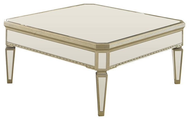 Borghese Mirrored Transitional Console Tables By Furniture Import Export Inc
