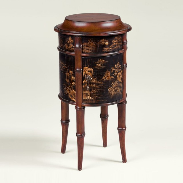 Collectors classics chinoiserie round accent table ...