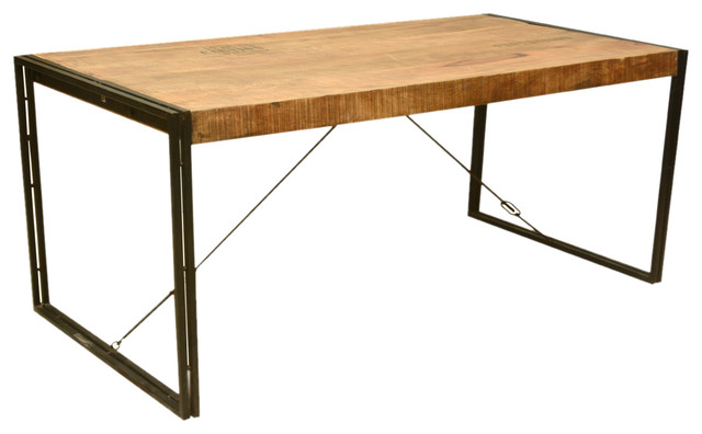 industrial style mango wood and iron dining table industrial dining