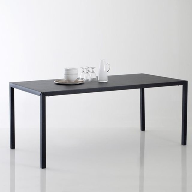 Table repas m tal noir mat 6 couverts hiba contemporain - Table a manger la redoute ...