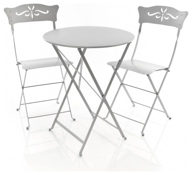 2 bagatelle st hle 1 bistro tisch bauhaus look outdoor for Table haute 50x50