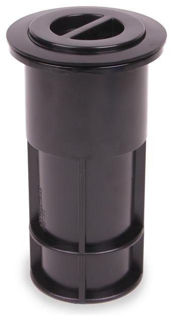 Patio Umbrella Accessories Replacement: Umbrella Pole Holder Set 5-inch, Black