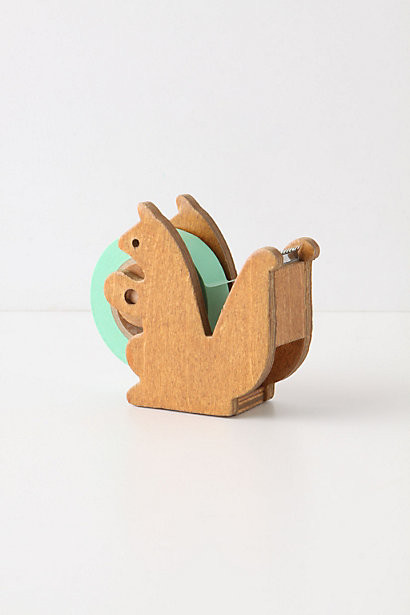 Squirreled Away Tape Dispenser Contemporary Desk