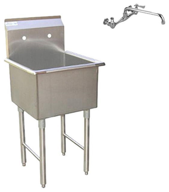 Grades Of Stainless Steel Sinks : Commercial Grade Stainless Steel Laundry and Garage Sink With Faucet ...
