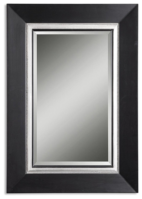 Uttermost Whitmore Vanity Black Wood Framed Mirror Contemporary Bathroom Mirrors By