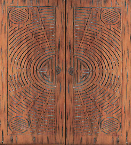 chinese style hand carved mahogany prehung double door