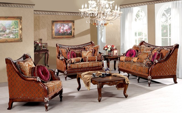 Alessandra Luxury Living Room Sofa Set Victorian