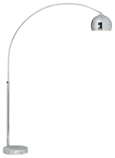 george kovacs polished chrome arc floor lamp contemporary floor lamps by euro style lighting. Black Bedroom Furniture Sets. Home Design Ideas