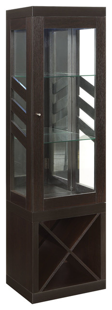 Modern Curio Cabinet With Wine Storage - China Cabinets And Hutches - by Coaster Fine Furniture