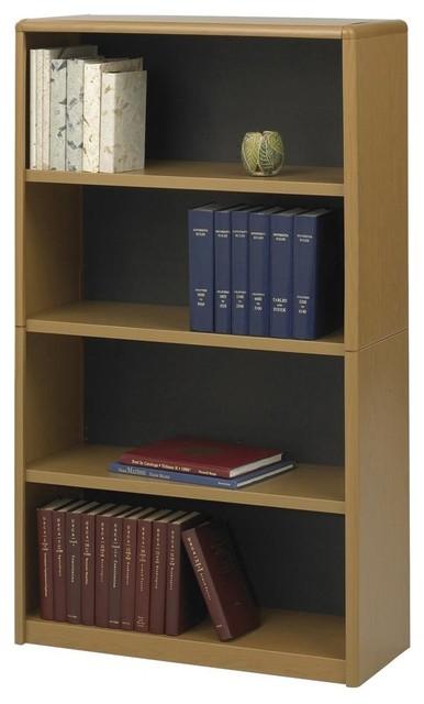 value mate steel bookcase w 4 shelves in medium oak