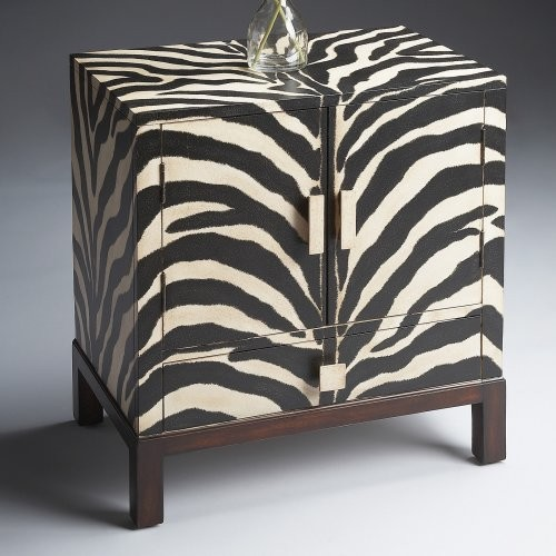 Butler Accent Cabinet Zebra Stripe Eclectic Side Tables And End Tables By Hayneedle