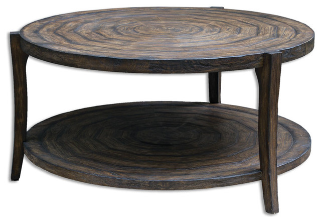 Uttermost 25654 Pias Rustic Coffee Table Transitional Side Tables And End Tables By