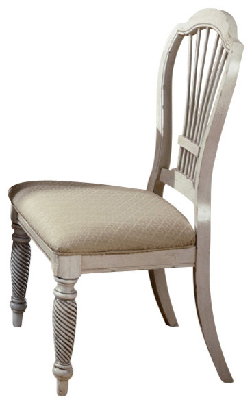 Hillsdale Wilshire Side Chair In Antique White Set Of 2 Traditional Din